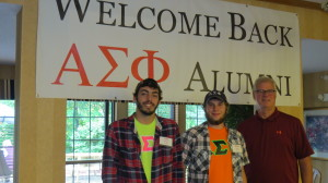 Active Brothers Lucas Charles Drerup & Martin (Stark County) Surma and Alumni Assoc Pres, Gene Tierney