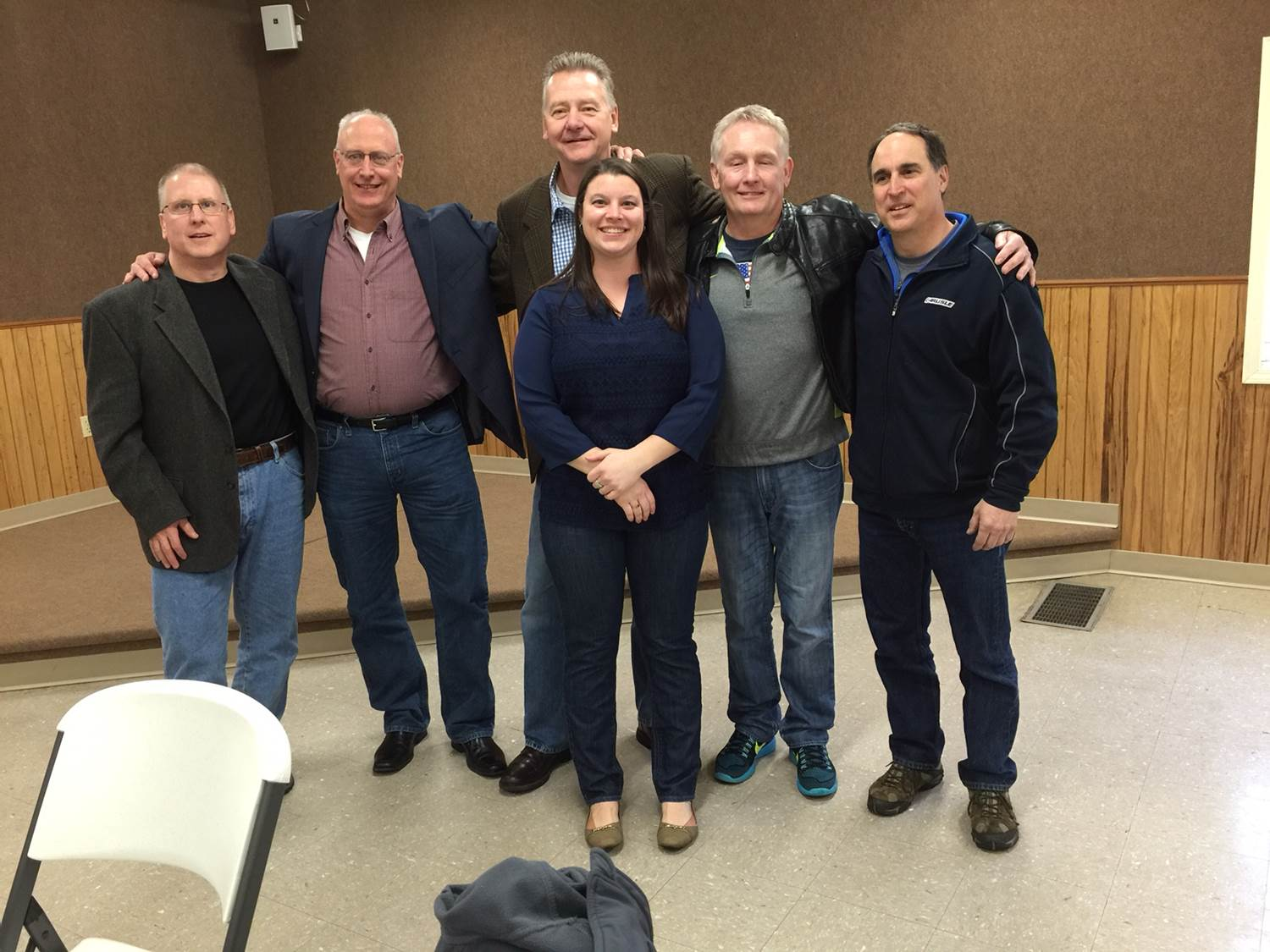 Spring Frolic 2016 L-R Back Row Mike Bovee, Eric Brown, Mike Pedue, Jack Robertson, Tom Christen  Tom's daughter, Miranda