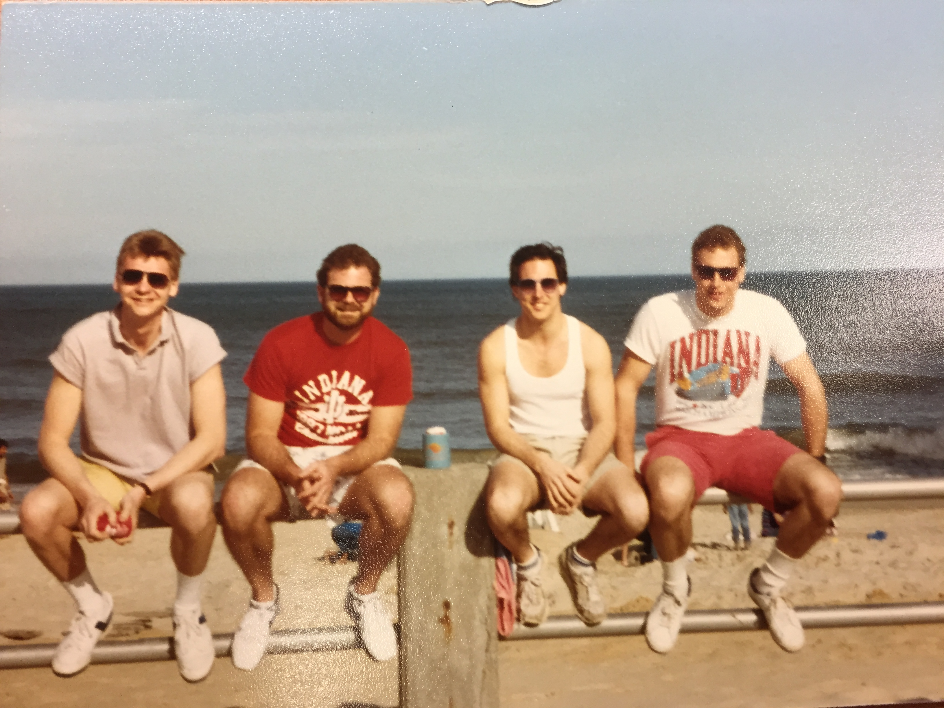 1987 L-R Mike Pedue, Mike Crull, Tom Christen & Eric Brown